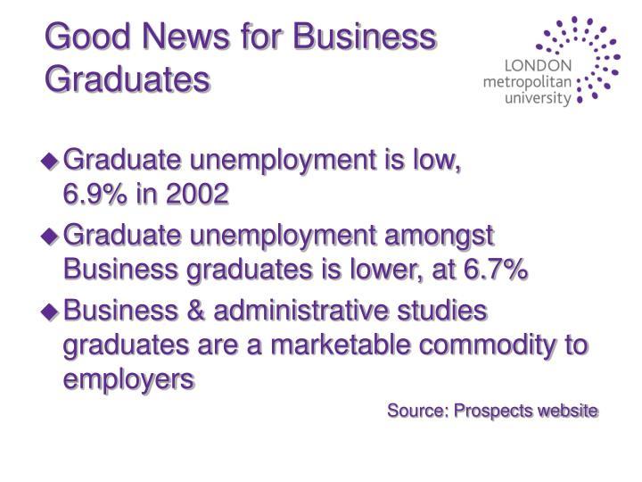 Good News for Business Graduates