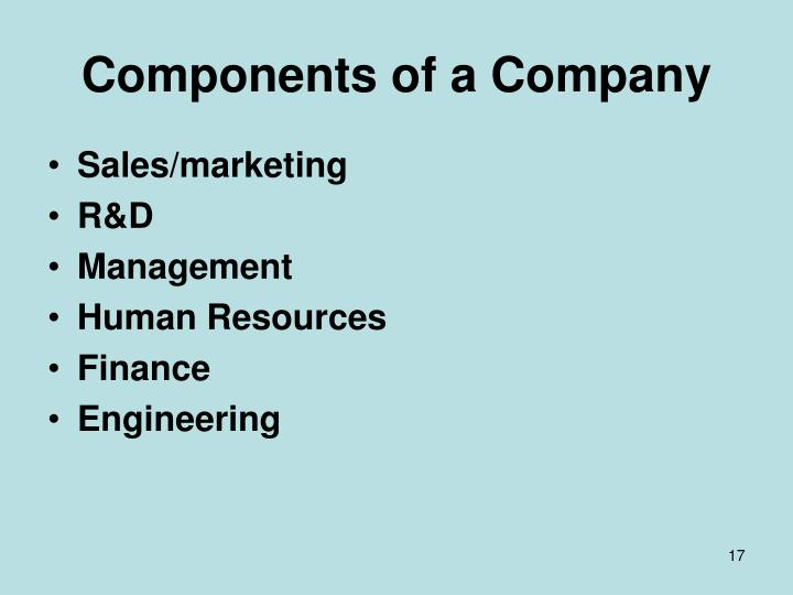 Components of a Company