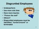 disgruntled employees