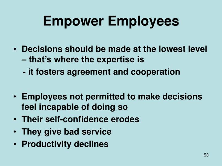 Empower Employees