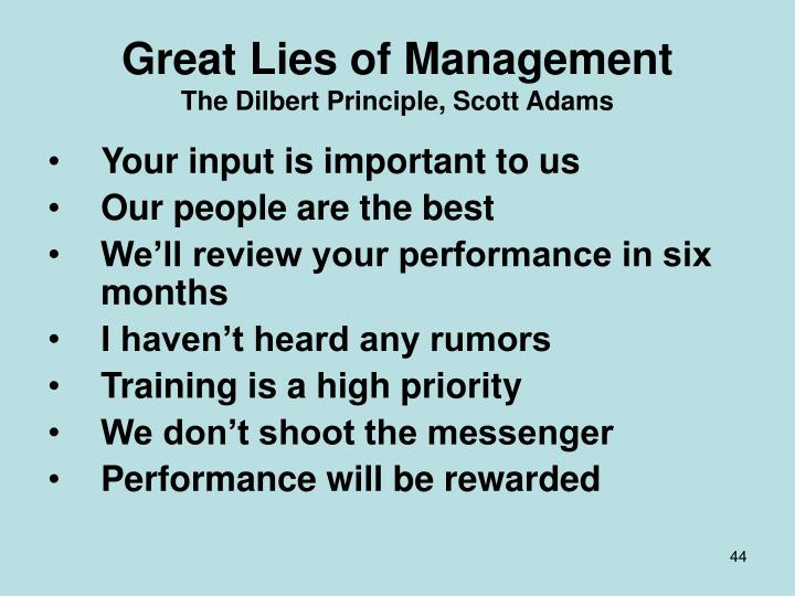 Great Lies of Management