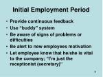 initial employment period