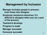 management by inclusion