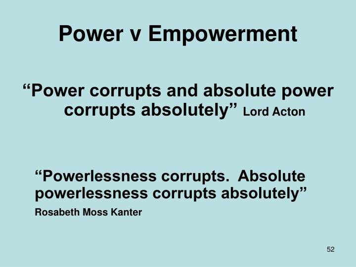 Power v Empowerment