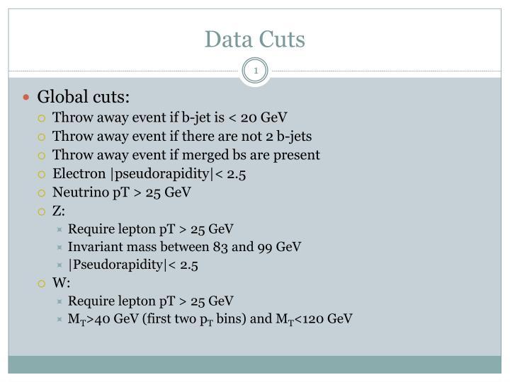 Data Cuts