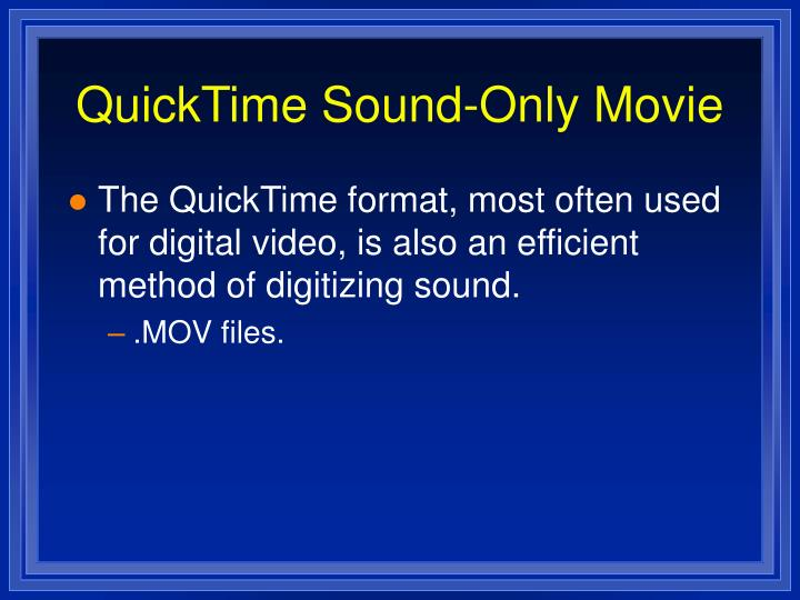 QuickTime Sound-Only Movie