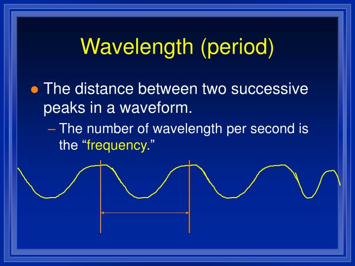 Wavelength (period)