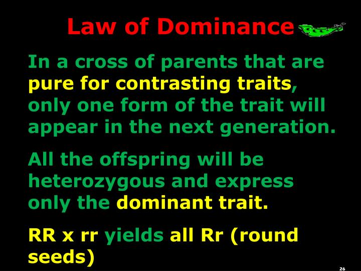 Law of Dominance