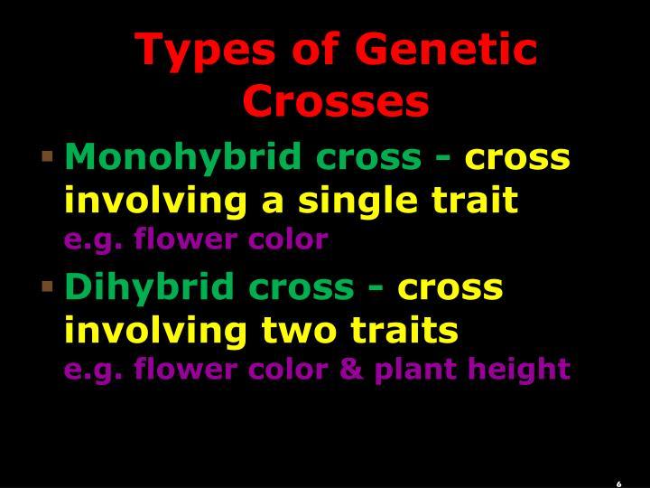 Types of Genetic Crosses