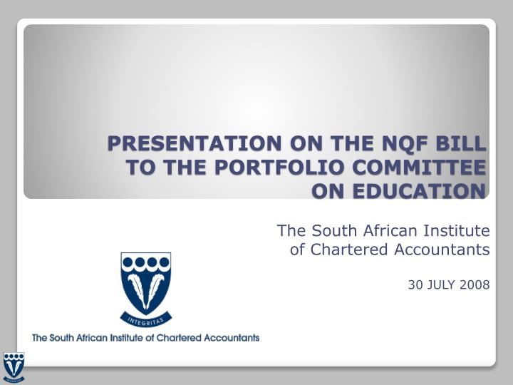 PRESENTATION ON THE NQF BILL