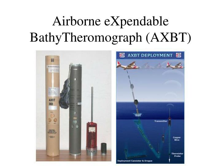 Airborne eXpendable BathyTheromograph (AXBT)