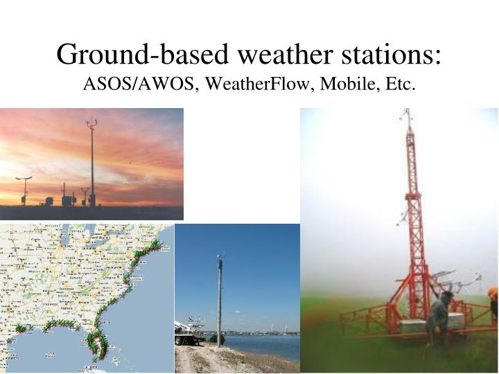 Ground-based weather stations: