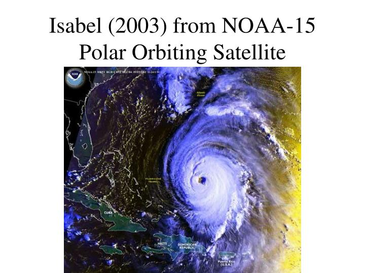 Isabel (2003) from NOAA-15 Polar Orbiting Satellite