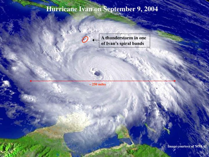 Hurricane Ivan on September 9, 2004