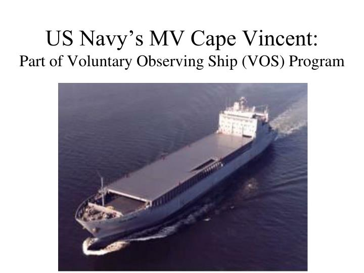 US Navy's MV Cape Vincent: