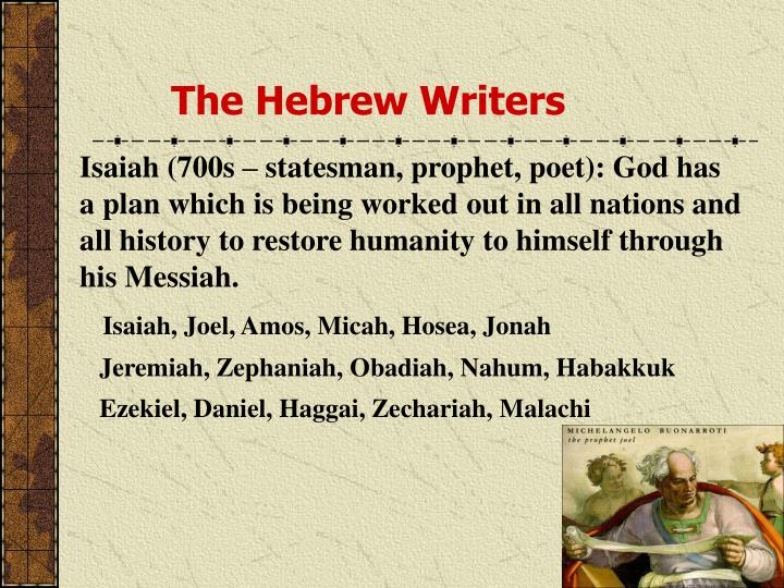 The Hebrew Writers