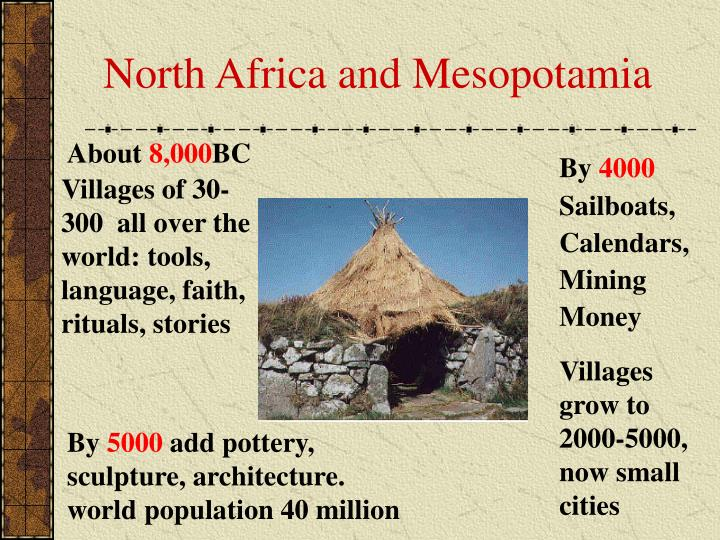 North Africa and Mesopotamia