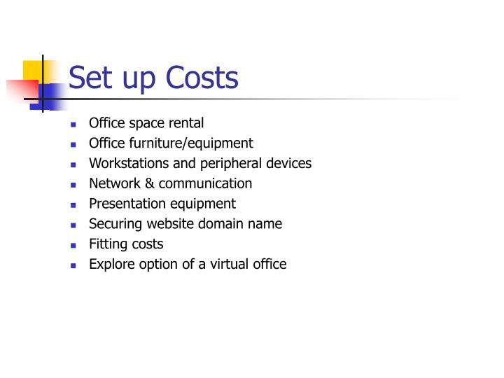 Set up Costs