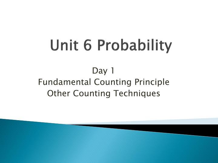 Unit 6 Probability