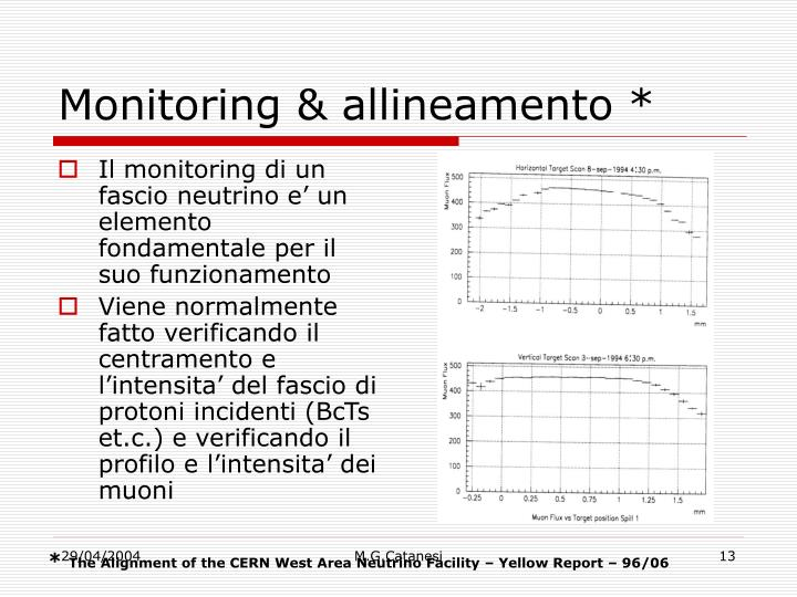 Monitoring & allineamento *