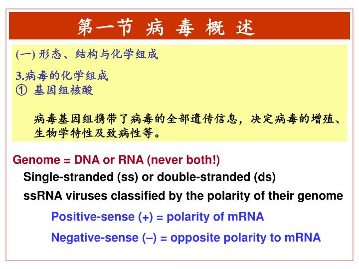 Genome = DNA or RNA (never both!)