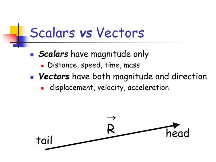 Scalars vs vectors