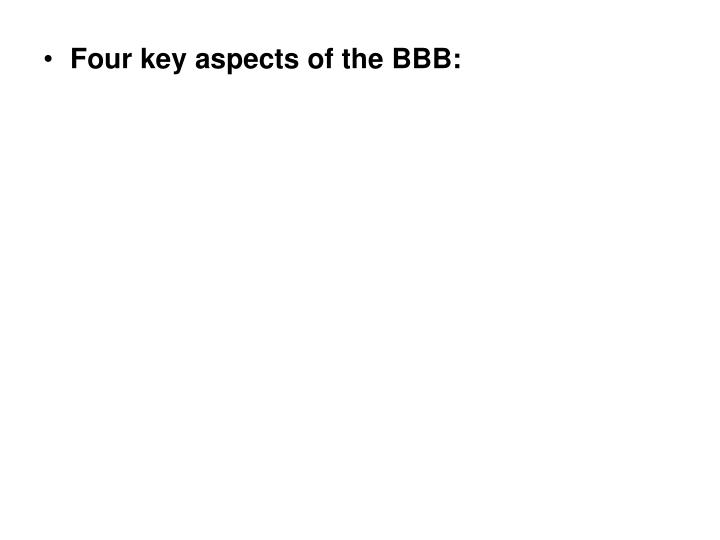 Four key aspects of the BBB: