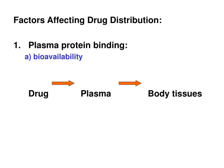 Factors Affecting Drug Distribution: