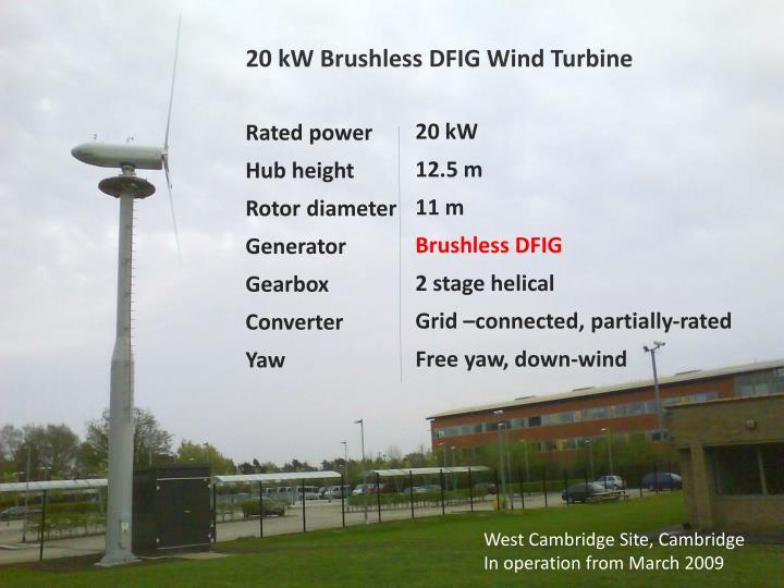 20 kW Brushless DFIG Wind Turbine