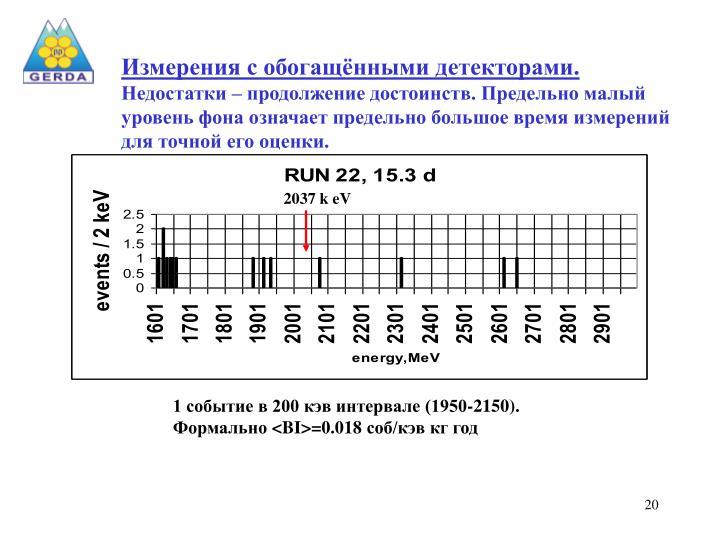 Измерения с обогащёнными детекторами.