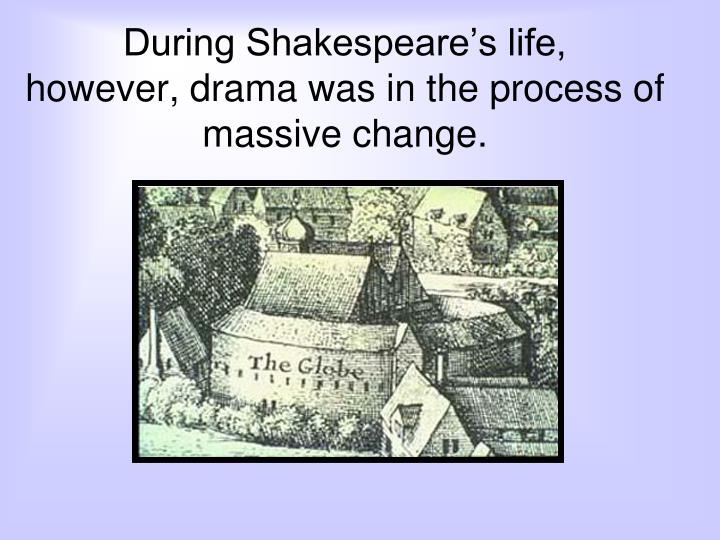 During Shakespeare's life,