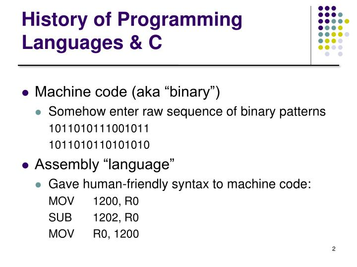 History of programming languages c