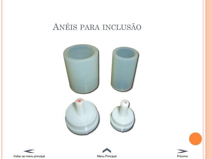 Anéis para inclusão