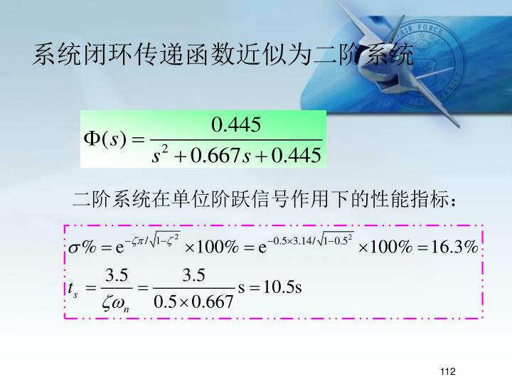 系统闭环传递函数近似为二阶系统