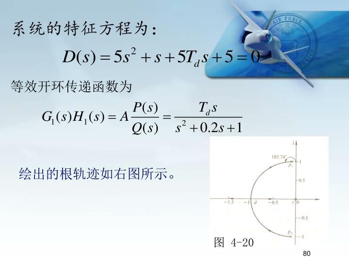 系统的特征方程为: