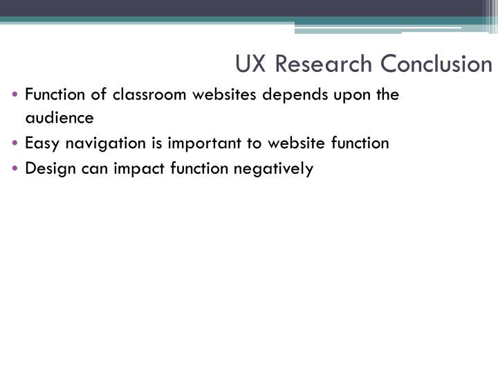 UX Research Conclusion