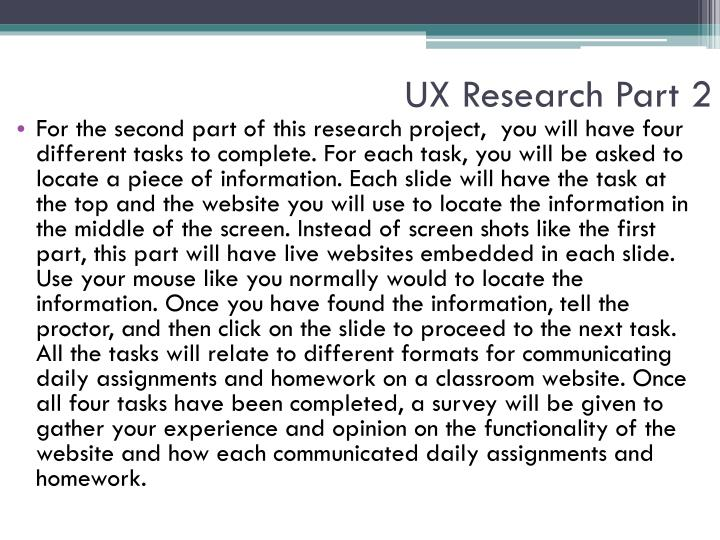 UX Research Part 2
