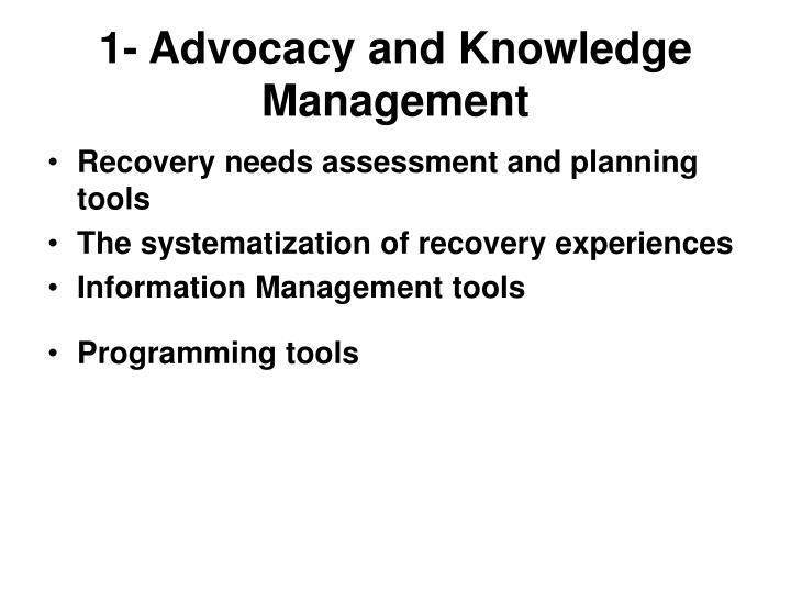 1- Advocacy