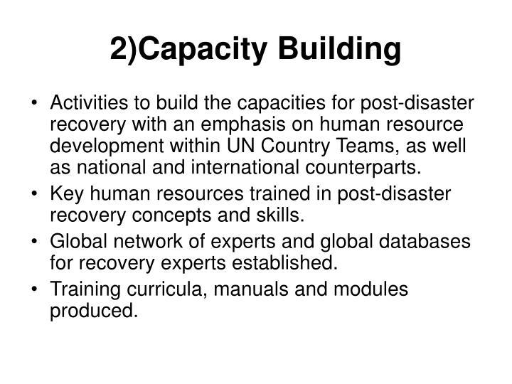 2)Capacity Building