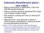 indonesia resettlement plans new risks