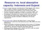 resource vs local absorptive capacity indonesia and gujarat