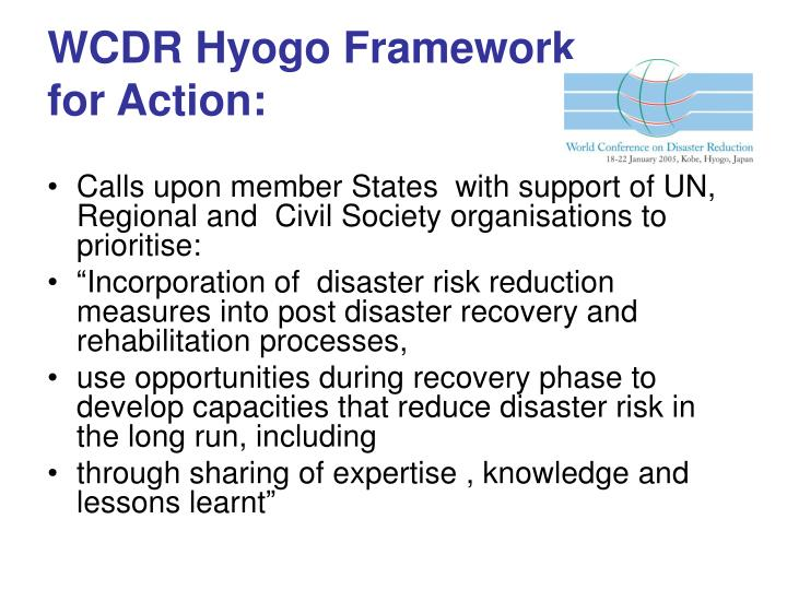 Wcdr hyogo framework for action
