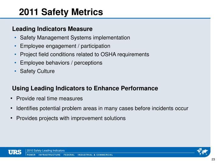 2011 Safety Metrics