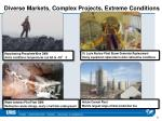 diverse markets complex projects extreme conditions