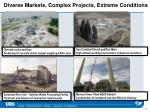 diverse markets complex projects extreme conditions1