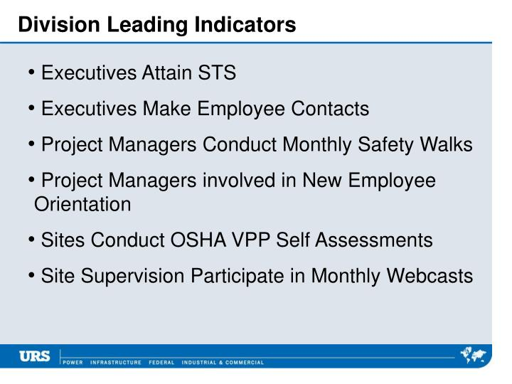 Division Leading Indicators