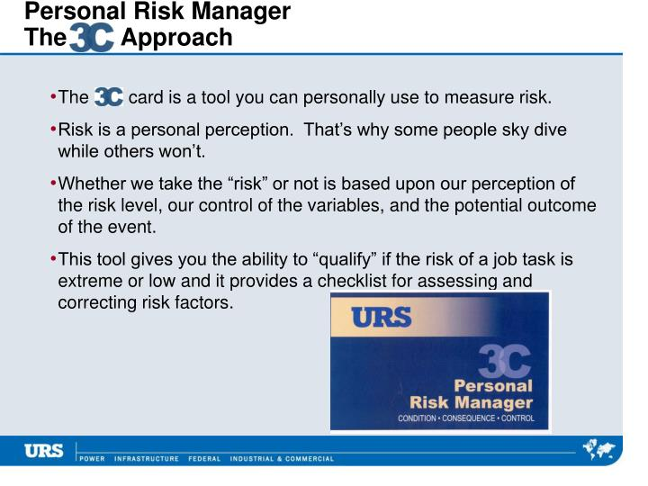 Personal Risk Manager