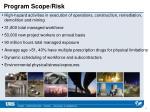 program scope risk