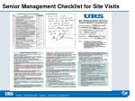 senior management checklist for site visits