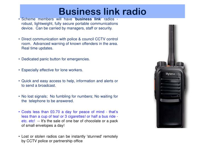 Business link radio